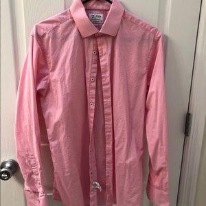 TM Lewin Super Fitted Dress Shirt 16.5 34.5